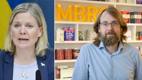Finansminister Magdalena Andersson (S) / Andreas Johansson Heinö, förlagschef på Timbro.  Bild: Janerik Henriksson/TT / Anders Wiklund/TT
