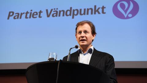 Carl Schlyter, partiet Vändpunkt. Bild: Jonas Ekströmer/TT