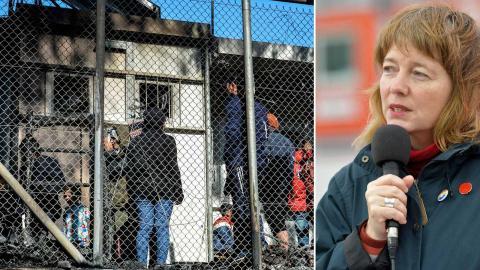 När det gäller flyktingars rättigheter är det som om EU:s brutalitet och brott mot de mänskliga rättigheterna vid Greklands gräns nu glömts bort, skriver Malin Björk. Till vänster bild från Lesbos. Foto: TT/AP/Panagiotis Balaskas, TT