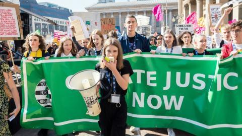 Katie Riley har varit engagerad i FFF:s brittiska gren UK Student Climate Network. Bild: William Persson