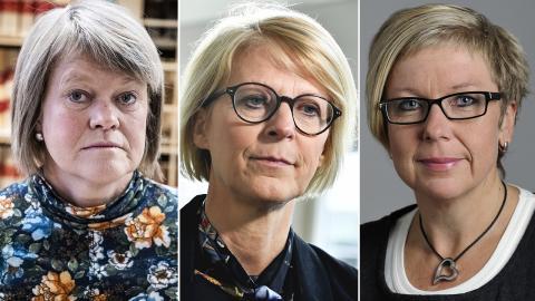 Ulla Andersson (V), Elisabeth Svantesson (M), Annelie Karlsson (S). Bild: Magnus Hjalmarson Neideman/SvD/TT / Jessica Gow/TT / Henrik Montgomery/TT
