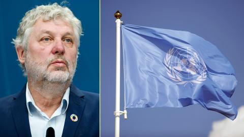 Peter Eriksson (MP), minister för internationellt utvecklingsarbete. Bild: Ali Lorestani/TT / Timo Jaakonaho/NTB Scanpix