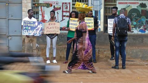 Fridays for Future Uganda är Afrikas ledande – de har ett nätverk på 30 000 unga och en rad namnkunniga aktivister.  Bild: Maxime Persdotter Wallström