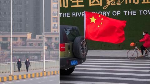 I mångmiljonstaden Wuhan inleddes covid-19-pandemin. Foto: TT/AP