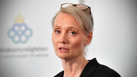 Karin Tegmark Wisell, överläkare och avdelningschef, Folkhälsomyndigheten. Bild: Jonas Ekströmer/TT