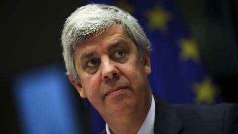 Mario Centeno, Eurofinansministrarnas mötesordförande. Bild: Francisco Seco/AP/TT