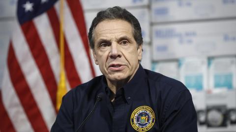 Andrew Cuomo, guvernör i delstaten New York. Bild: John Minchillo/AP/TT