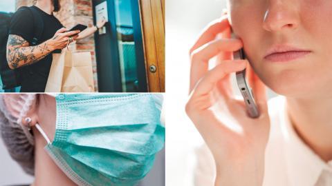 Skyddsutrustning, hämtmat eller stödsamtal? Det finns mycket du kan göra för att hjälpa till.  Bild: Shutterstock