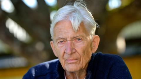 PO Enquist, i samband med att fyllde 80 år 2014. Bild: Henrik Montgomery/TT