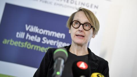 Annika Sundén, analyschef på Arbetsförmedlingen. Bild: Pontus Lundahl/TT