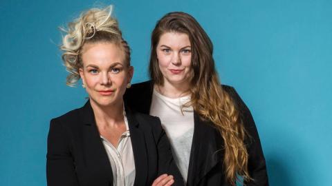Sofia Jensfelt och Linda Svetvold Amiri, marknadsansvarig respektive vd på städbolaget 50-femme.