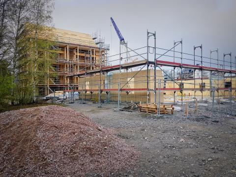 Nu har vi påbörjat bygget av vårt andra hyreshus i Västerås. Foto: Tommy Rundqvist