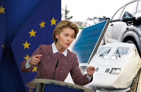 2 000 miljarder satsas i EU:s gröna återhämtningspaket. Foton: TT/AP (Montage)