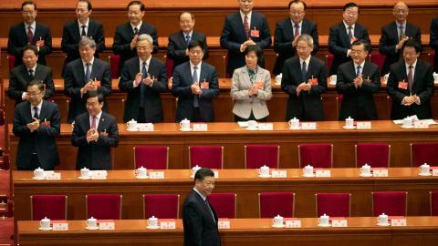 Xi Jinping vid kongressen förra året. Foto: Ng Han Guan/TT/AP
