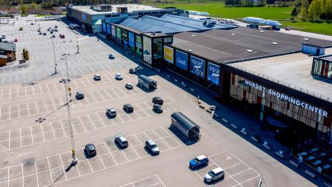 På stora Nordby shoppingcenter är det glest, Foto: Adam Ihse/TT