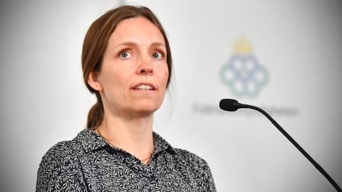 Sara Byfors, chef för laborativ bakterieövervakning, Folkhälsomyndigheten. Bild: Jonas Ekströmer/TT