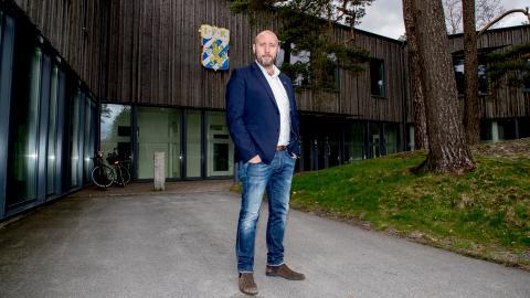 Max Markusson, klubbdirektör för IFK Göteborg, längtar efter att se sitt lag spela på hemmaplan.   Bild: Adam Ihse/TT