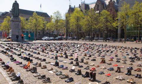 Skostrejk i Holland. Foto: Catherine Gerritsen