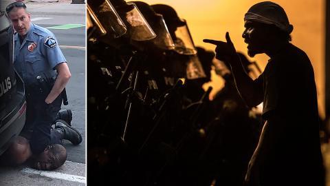 Polisbrutaliteten som orsakade George Floyds död har lett till omfattande protester. Bild: Skärmdump från Facebook / Josh Galemore/AP/TT