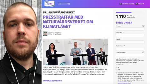 """Viktor Edvardsson, 33, bor i Malmö och jobbar på en folkhögskola. Om sitt eget klimatengagemang säger han: """"Jag lever mitt liv för att minska mitt avtryck så mycket som möjligt, förutom att jag har två barn då."""""""