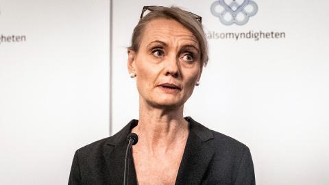 Karin Tegmark Wisell, avdelningschef på Folkhälsomyndigheten. Foto: TT/SVD/Magnus Hjalmarson Neideman