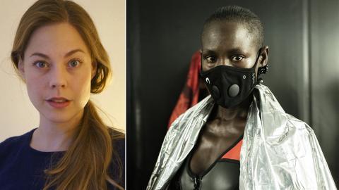 """""""Att mask blivit något av en trend, och ett sätt att visa tillhörighet tycker jag mig se tydligt"""", sägermodeforskaren Jessica Conrah / Airinumär en svensk startup för munskydd. Bild: Privat / Airinum"""