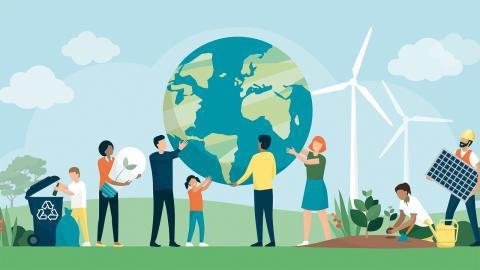 Representanter från miljörörelsen ställer fem krav på återhämtningen efter coronakrisen. Bild: Shutterstock