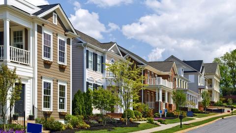 I rikare förorter genererar husen mer växthusgaser än i fattigare. Bild: Shutterstock