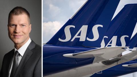 Jens Forsmark, Naturskyddsföreningen, riktar kritik mot SAS klimatarbete. Johan Nilsson/TT