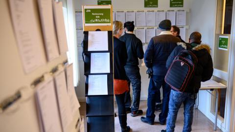I dagens samhälle ses arbetslöshet som ofrånkomligt. Kerstin Eldh menar att så inte alltid varit fallet. Bild: Johan Nilsson/TT