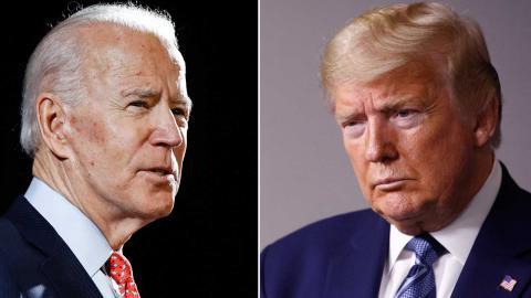 Joe Biden och Donald Trump. Foto: TT/AP/Patrick Semansky, Matt Rourke