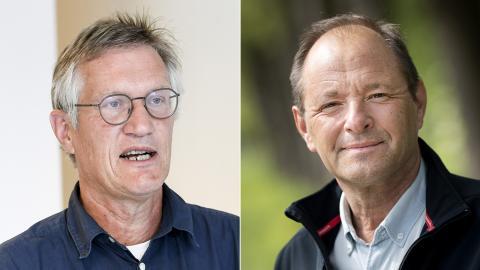 Anders Tegnell / Björn Olsen. Bild: Fredrik Sandberg/Pontus Lundahl/TT