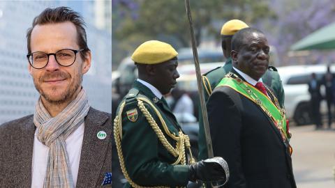 Zimbabwes folk, och omvärlden, hoppades på mer demokrati under presidenten Emmerson Mnangagwa. Det blev tvärt om.  Foto: Tsvangirayi Mukwazhi/TT