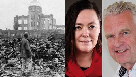 75 år efter atombomberna över Hiroshima och Nagasaki kan Göteborg bli första stad i Sverige att ansluta sig till Stadsuppropet mot kärnvapen, skriver dagens debattörer. Foto: Stanley Troutman/TT/AP, Press