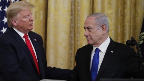 Både Trump och Netanyahu har skäl att positionera sig som framgångsrika segrare just nu. Bild: Alex Brandon/AP/TT