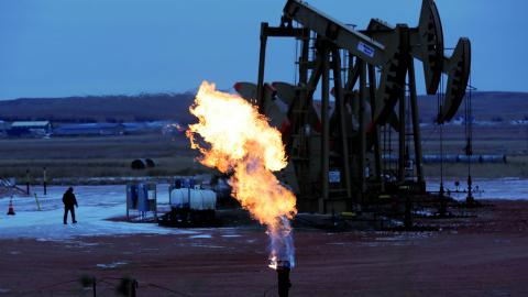 Oljefält i North Dakota, USA. Bild: Eric Gay/AP