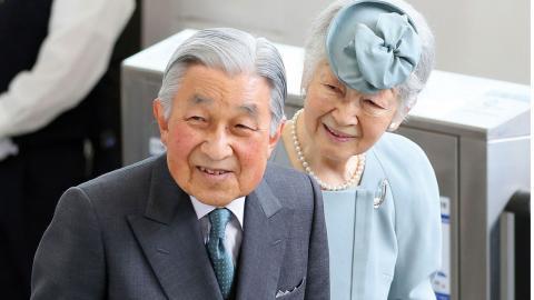Akihito och hans hustru Michiko.