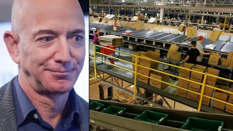 Amazons vd Jeff Bezos skulle kunna betala alla anställda en bonus på 105 000 dollar i dag, och ändå vara lika rik som vid starten av pandemin, skriver Oxfam i sin rapport. Foto: Pablo Martinez Monsivais/AP,Ben Margot/AP