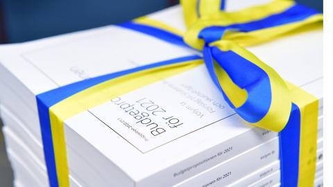 Budgeten för 2021 presenterades under måndagen. Foto: Jessica Gow / TT