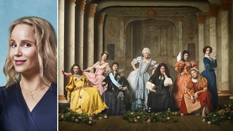 Sofia Helin är programledare för den historiska dokumentärserien Drottningarna på TV4. Bild: Karolina Henke/TV4/C More