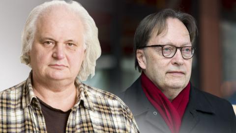 Göran Greider / Horace Engdahl. Bild: Dagens ETC / Henrik Montgomery/TT