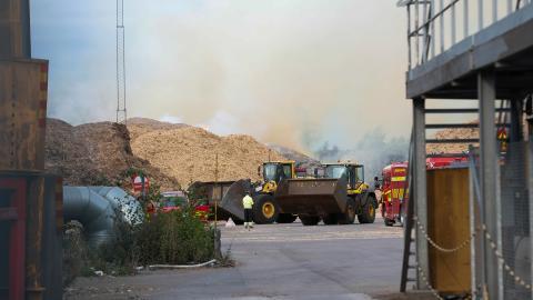Värmeverk i Norrköping, som eldar med träflis.  För att motverka den globala uppvärmningen måste Sverige minska sin förbränning av biomassa.  Bild: Stefan Jerrevång/TT