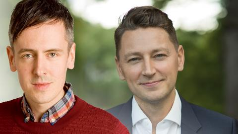 Andreas Gustavsson / Humanas vd Rasmus Nerman. Bild: Press / Dagens ETC