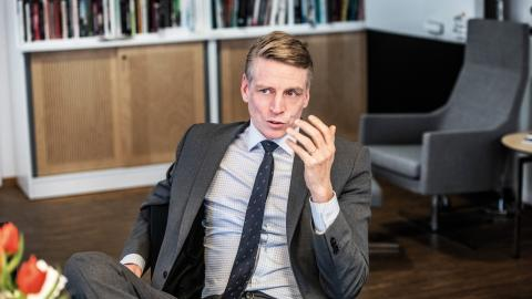 """""""Hade vi inte fattat de här besluten om reduktionsplikt och kreditgarantier så hade inte                                     Preem dragit tillbaka sin ansökan om utbyggnad i Lysekil"""", säger Miljöpartiets språkrör Per Bolund.  Bild: Tomas Oneborg/SvD/TT"""