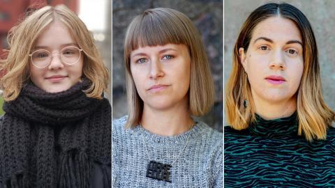 Gabriella Kärnekull Wolfe, Ida Östensson, Kristina Wicksell Bukhari. Bilder: Press