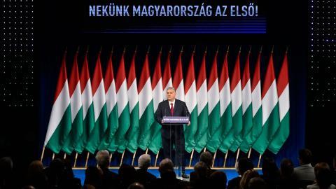 Viktor Orbán bedömdes som en risk för Ungerns akademiska frihet av EU-domstolen förra veckan. Hans  auktoritära styre bör bemötas med mer motstånd menar debattören. Foto: AP/TT