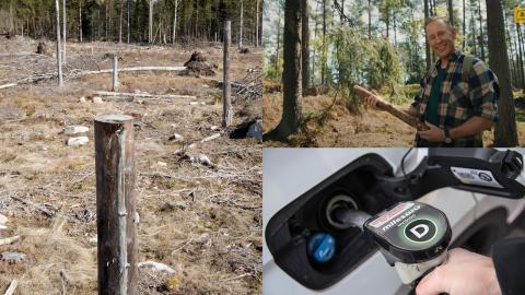 Med hjälp av den folkkäre profilen Gunde Svan säljs Preems biodiesel in som ett klimatsmart bränsle till svenska folket. Samtidigt varnar allt fler forskare för samhällets höga tilltro till biodrivmedel i omställningen.  Bild: Fredrik Sandberg/TT, Anders Wiklund/TT och youtube