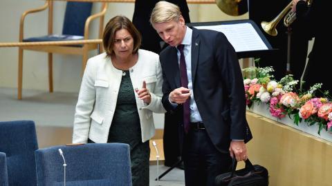 MP-språkrören Isabella Lövin och Per Bolund. Bild: Henrik Montgomery/TT