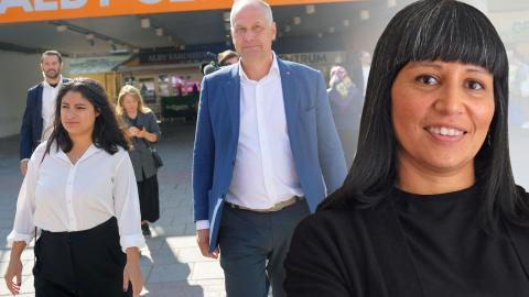I helgen tar Nooshi Dadgostar , av allt att döma, över som V-ledare efter Jonas Sjöstedt och ärver las-striden. Bild: Maja Suslin/TT