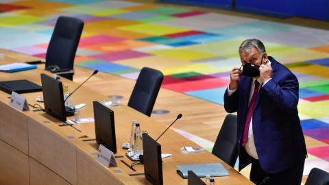 Ungerns premiärminister Viktor Orbán. Bild: Olivier Matthys/TT